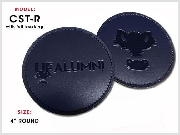 CST-R Round Leather Coaster with Specs