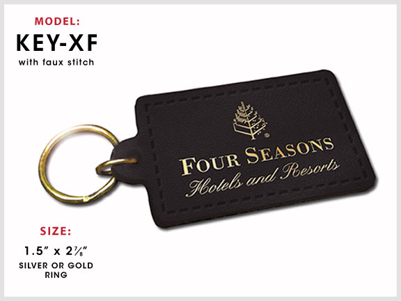 KEY-XF Rectangular Leather Key Chain [Rectangle] with Specs