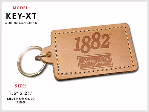 KEY-XT Rectangular Leather Key Chain [Rectangle] with Specs